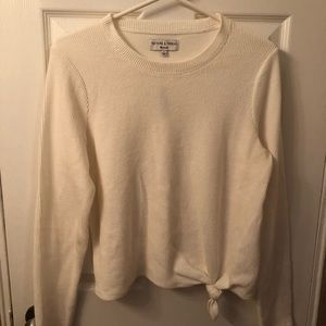 Madewell Knotted Crewneck Ribbed Long-Sleeve Tee